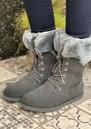 EMU Shoreline Waterproof Sheepkin Boots - Dark Grey