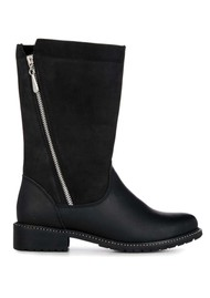 EMU Yancoal Mid Calf Leather Boot - Black