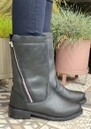 Yancoal Mid Calf Leather Boot - Black additional image