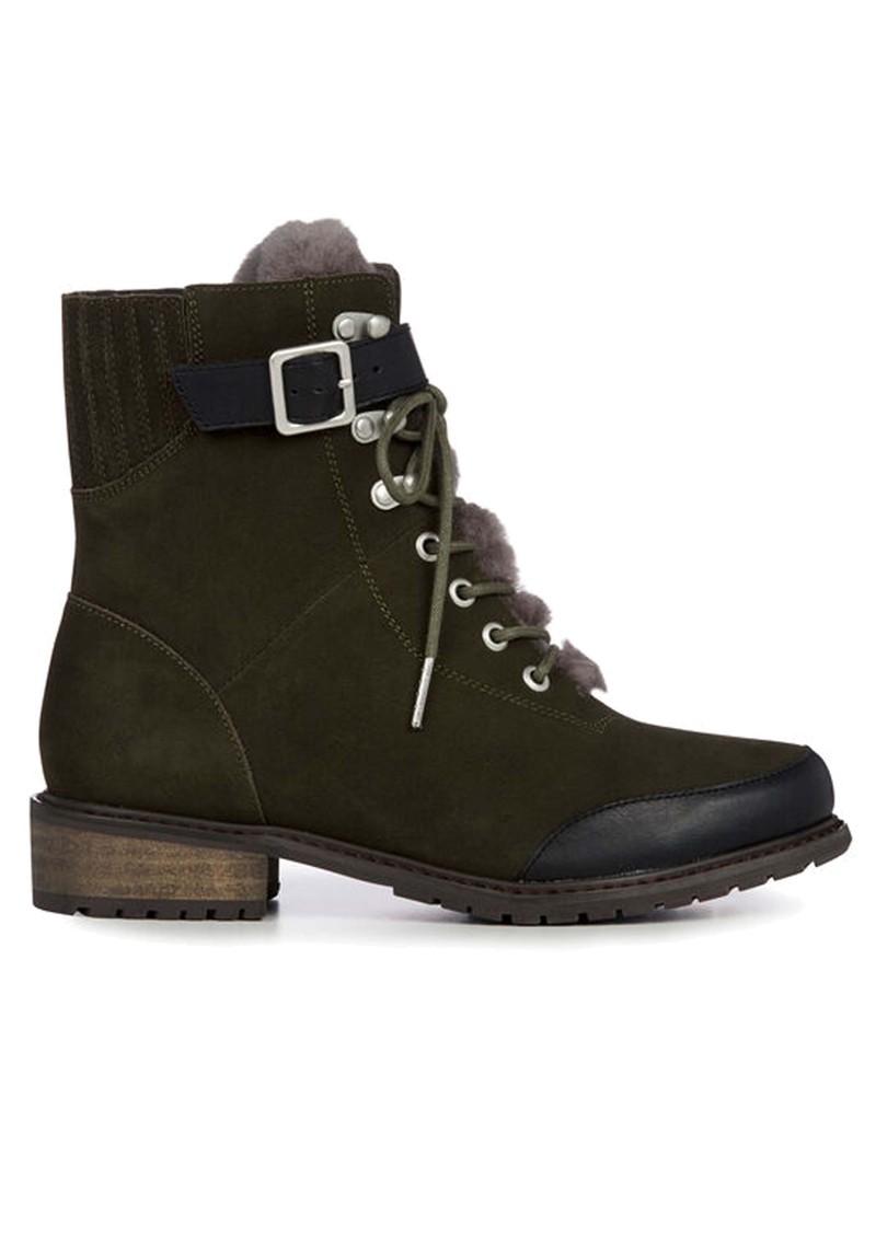 EMU Waldron Mix Mid Calf Waterproof Boots - Dark Olive main image