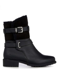 EMU Xstrata Waterproof Leather Biker Boot - Black