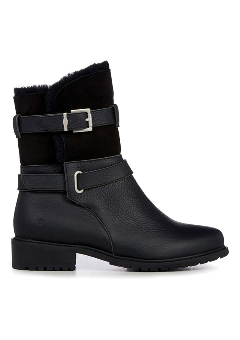 EMU Xstrata Waterproof Leather Biker Boot - Black main image