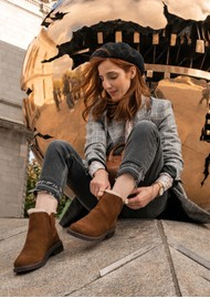 EMU Pioneer Waterproof Suede Ankle Boots - Oak