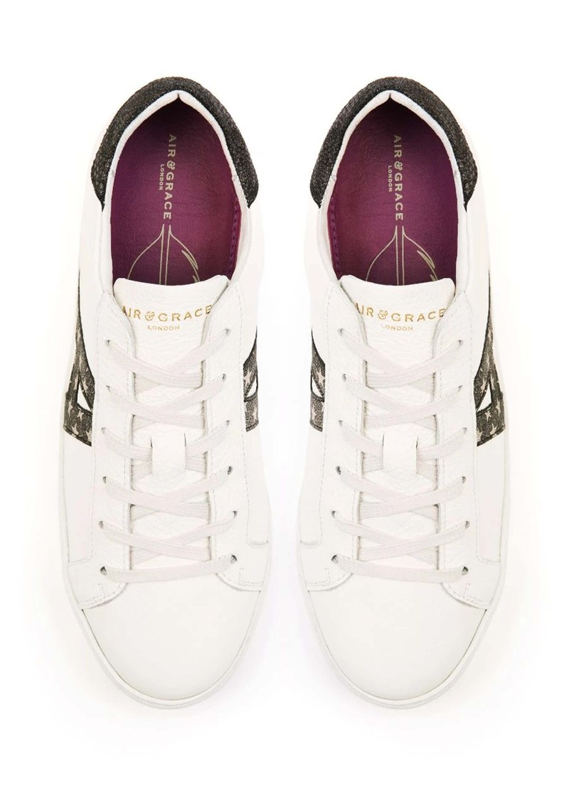 AIR & GRACE Cru Signature Trainers - Black Star main image