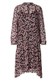SECOND FEMALE Fleurir Floral Printed Dress - Black