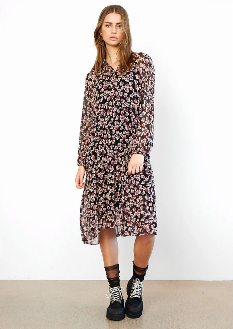 SECOND FEMALE Fleurir Floral Printed Dress - Black  main image