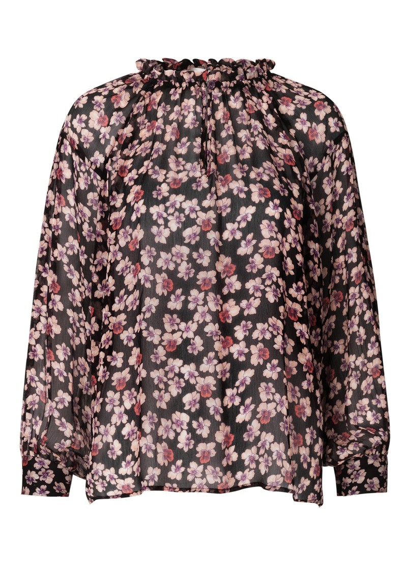 SECOND FEMALE Fleurir Floral Printed Blouse - Black main image