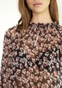 SECOND FEMALE Fleurir Floral Printed Blouse - Black