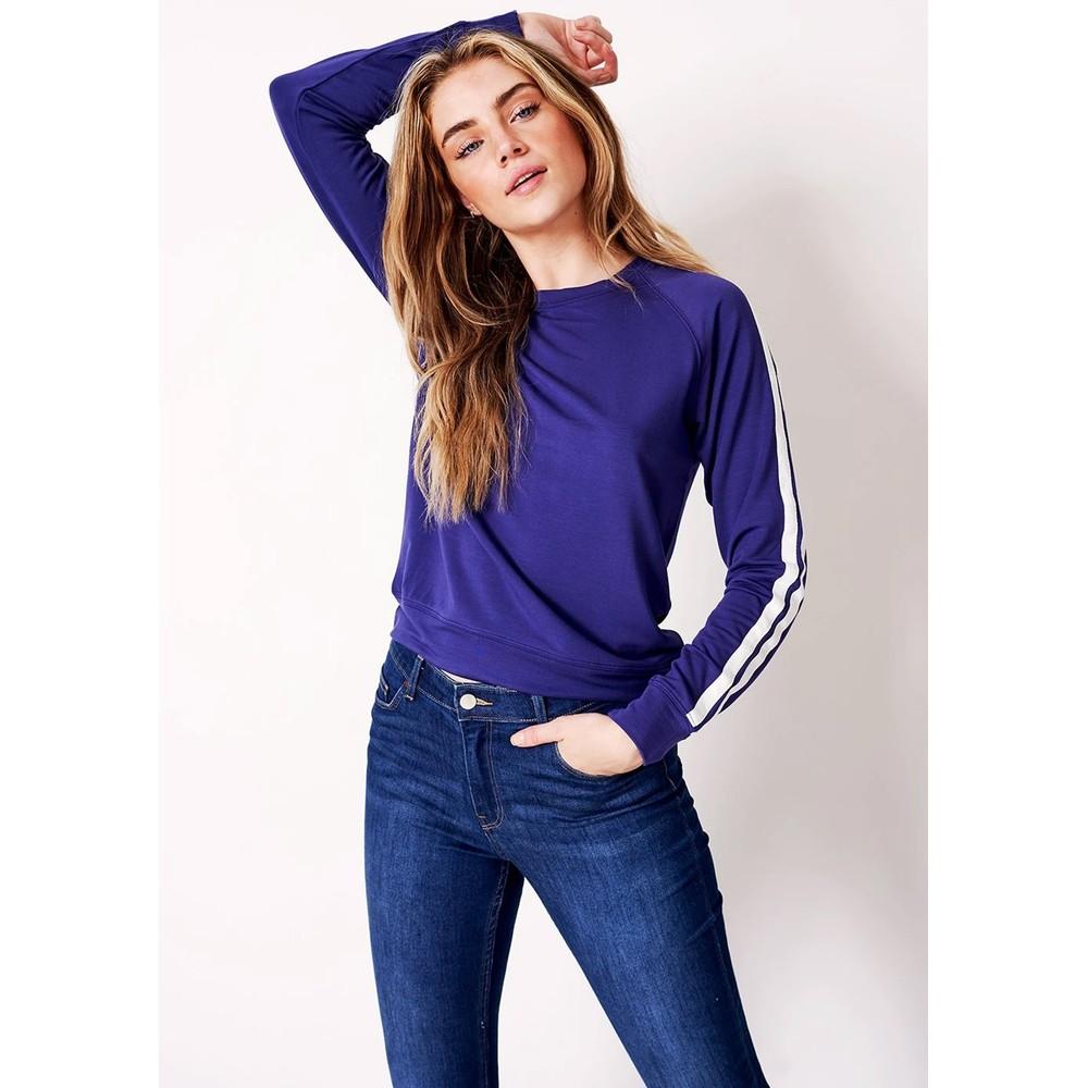 Essential Sweatshirt - Navy Stripe