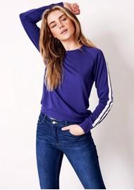 STRIPE & STARE Essential Sweatshirt - Navy Stripe