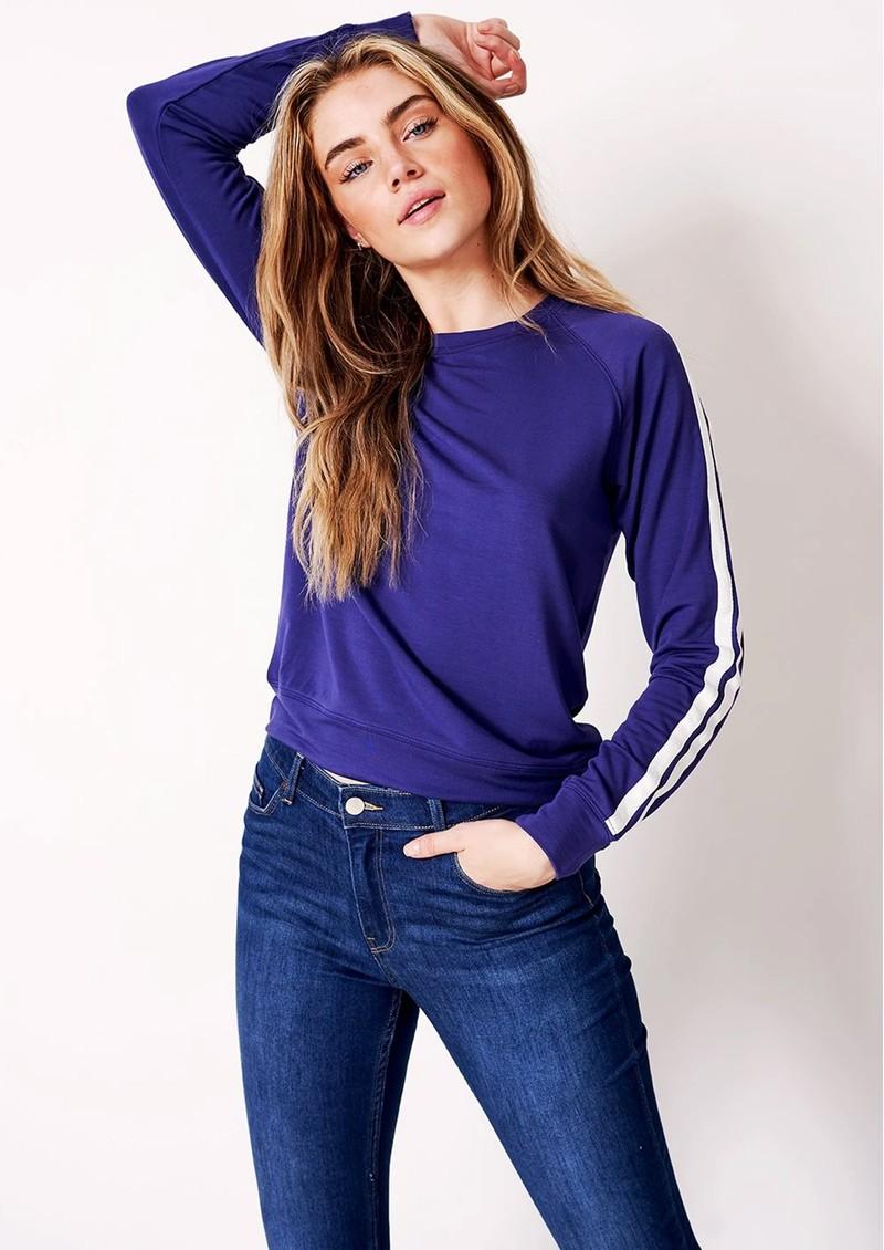 STRIPE & STARE Essential Sweatshirt - Navy Stripe main image
