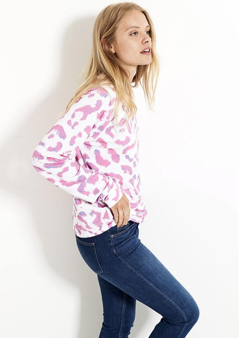 STRIPE & STARE Essential Sweatshirt - Persian Leopard main image