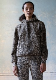 RAGDOLL Oversized Hoodie - Brown Leopard