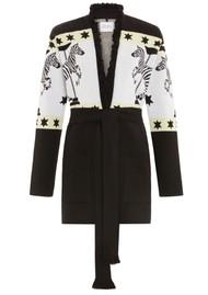 HAYLEY MENZIES Carousel Cotton Jacquard Cardigan - Black & White