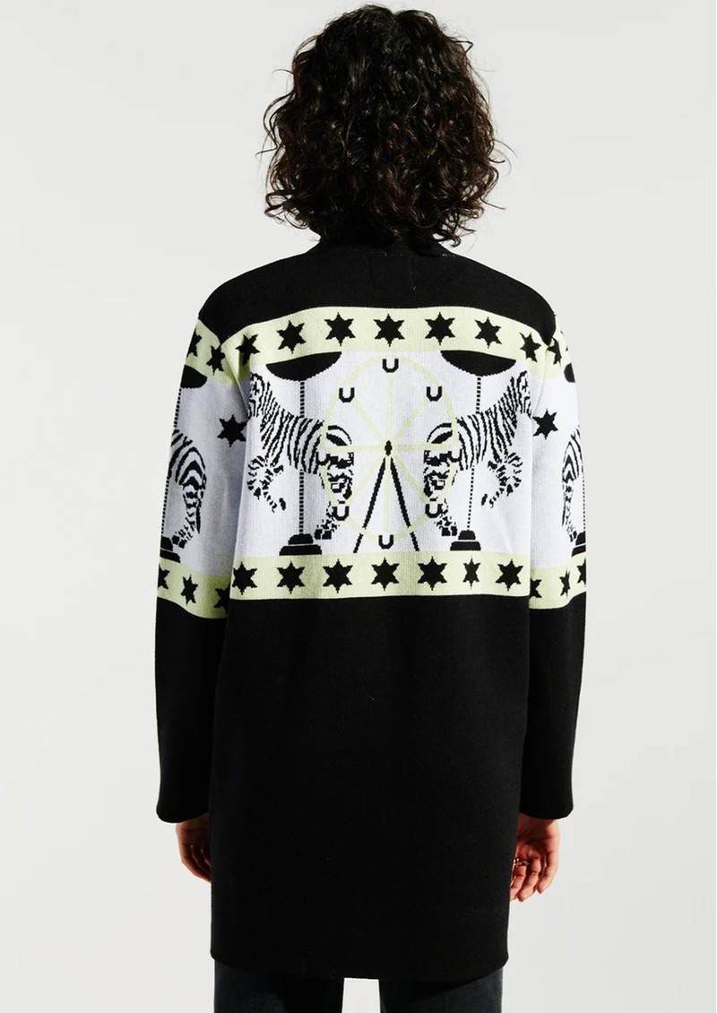 HAYLEY MENZIES Carousel Cotton Jacquard Cardigan - Black & White main image