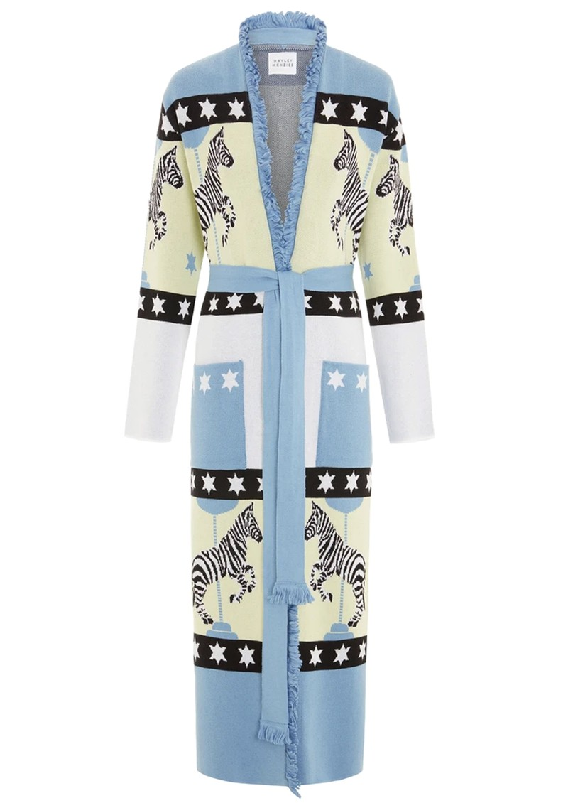 HAYLEY MENZIES Carousel Cotton Jacquard Duster Cardigan - Blue main image