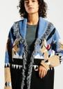 HAYLEY MENZIES Sunrise Rodeo Merino Jacquard Cardigan - Blue