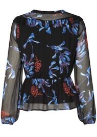BAUM UND PFERDGARTEN Mariegold Blouse - Dancing Flower Black