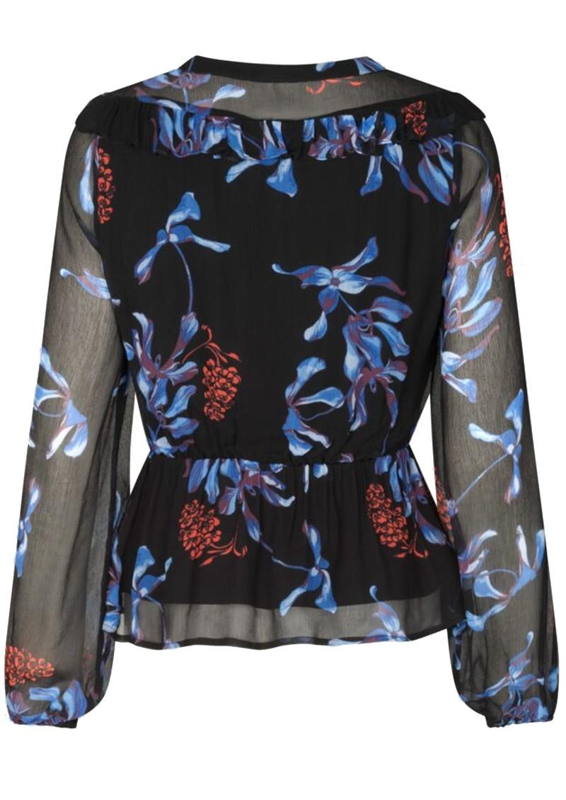 BAUM UND PFERDGARTEN Mariegold Blouse - Dancing Flower Black main image