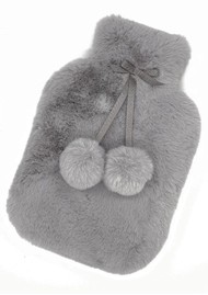 NOOKI Luxe Hot Water Bottle & Cover - Grey