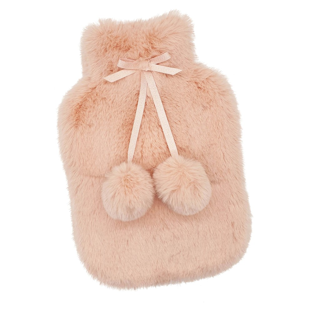 Luxe Hot Water Bottle & Cover - Nude