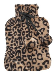 NOOKI Luxe Hot Water Bottle & Cover - Leopard