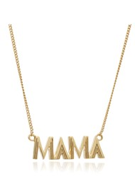 RACHEL JACKSON Art Deco Mama Necklace - Gold