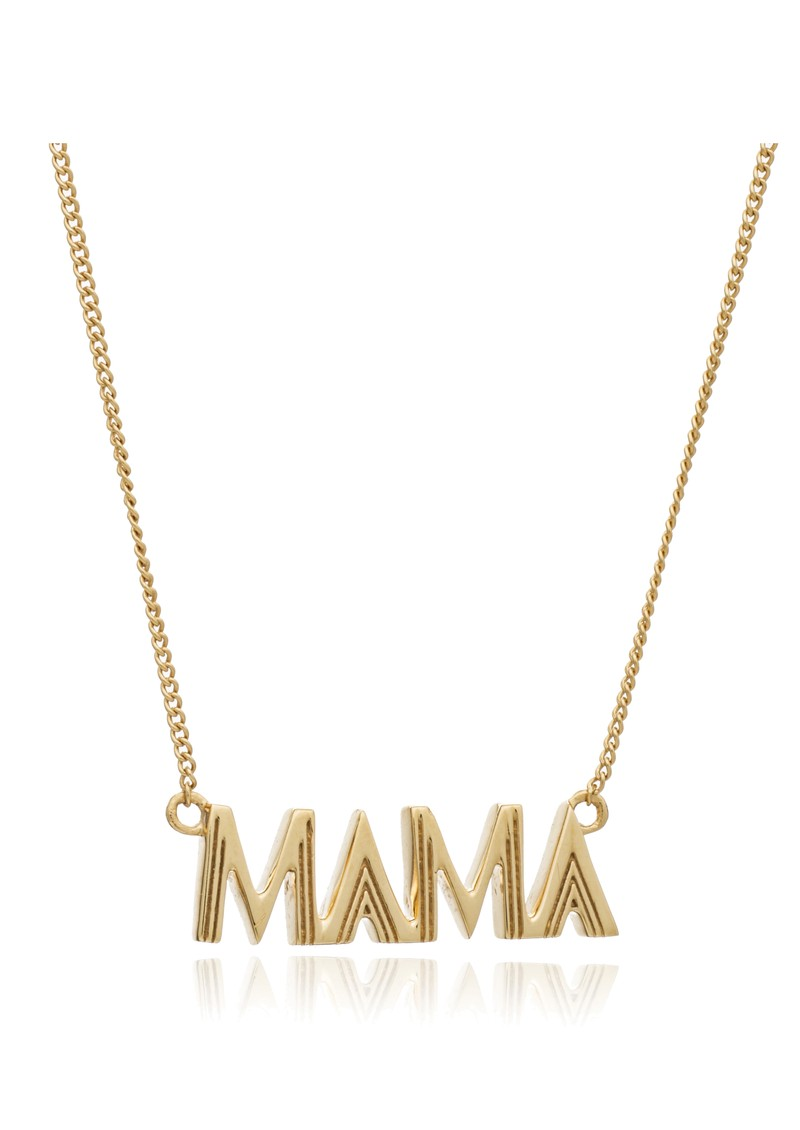 Art Deco Mama Necklace - Gold main image