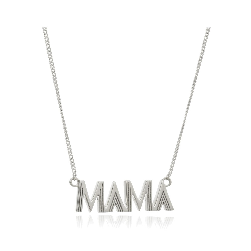 Art Deco Mama Necklace - Silver