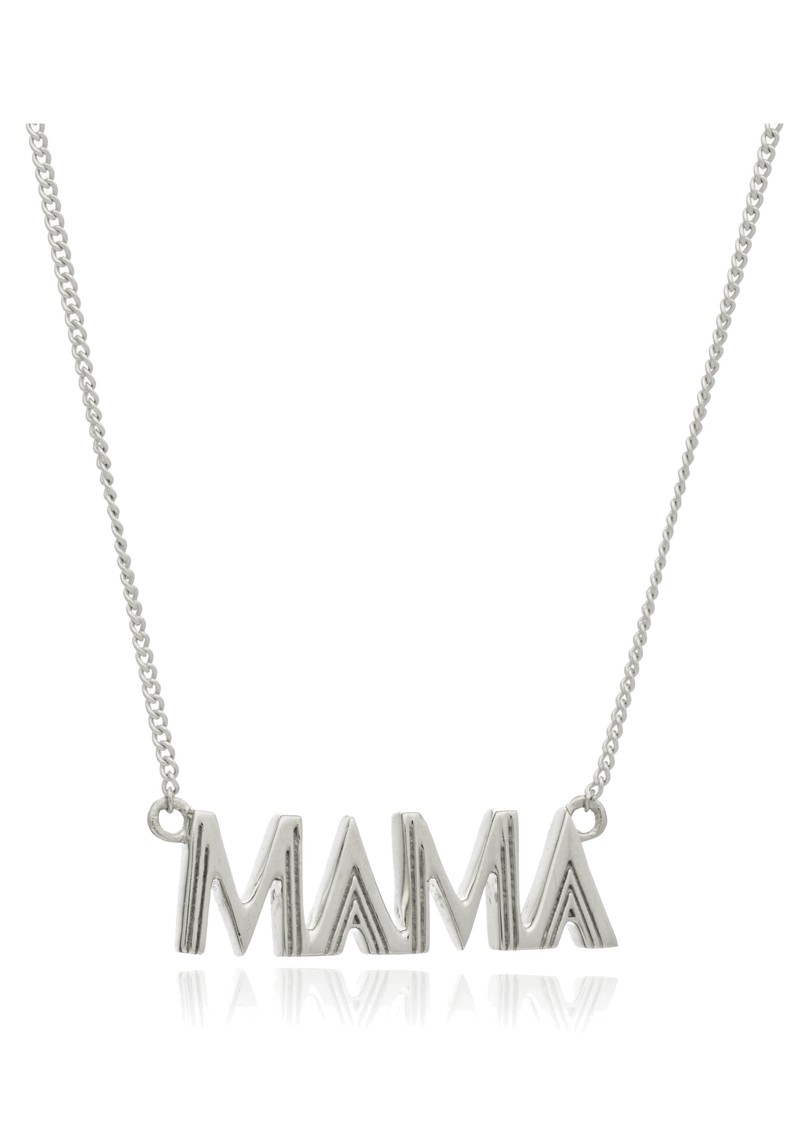 RACHEL JACKSON Art Deco Mama Necklace - Silver main image