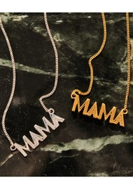 RACHEL JACKSON Art Deco Mama Necklace - Silver