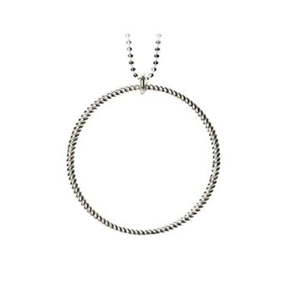 Big Twisted Necklace - Silver