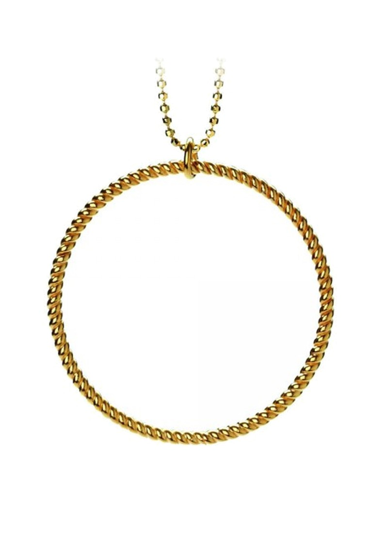 PERNILLE CORYDON BIG TWISTED NECKLACE - GOLD main image