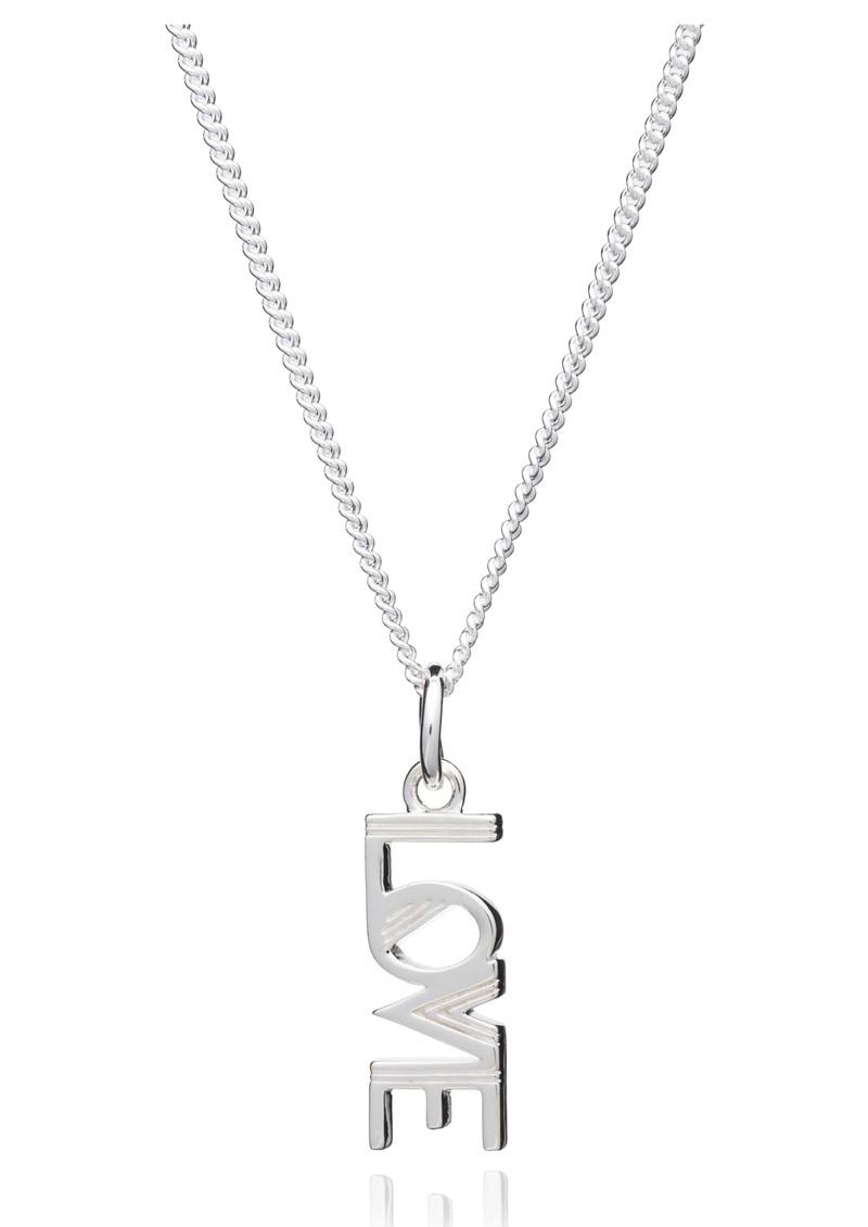 RACHEL JACKSON Art Deco Love Charm Necklace - Silver main image
