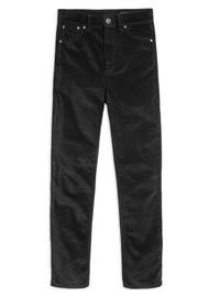RAG & BONE Nina High Rise Velvet Skinny Jeans - Black