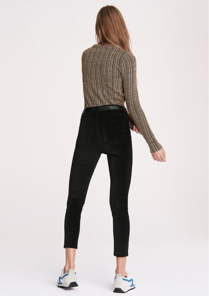 RAG & BONE Nina High Rise Velvet Skinny Jeans - Black main image