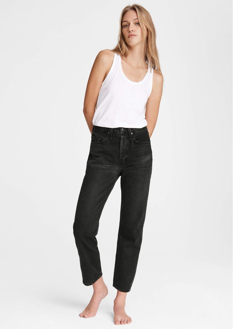 Maya High Waisted Ankle Wide Leg Jeans - Highland main image