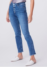 PAIGE DENIM Cindy High Rise Straight Leg Exposed Buttonfly - Skysong