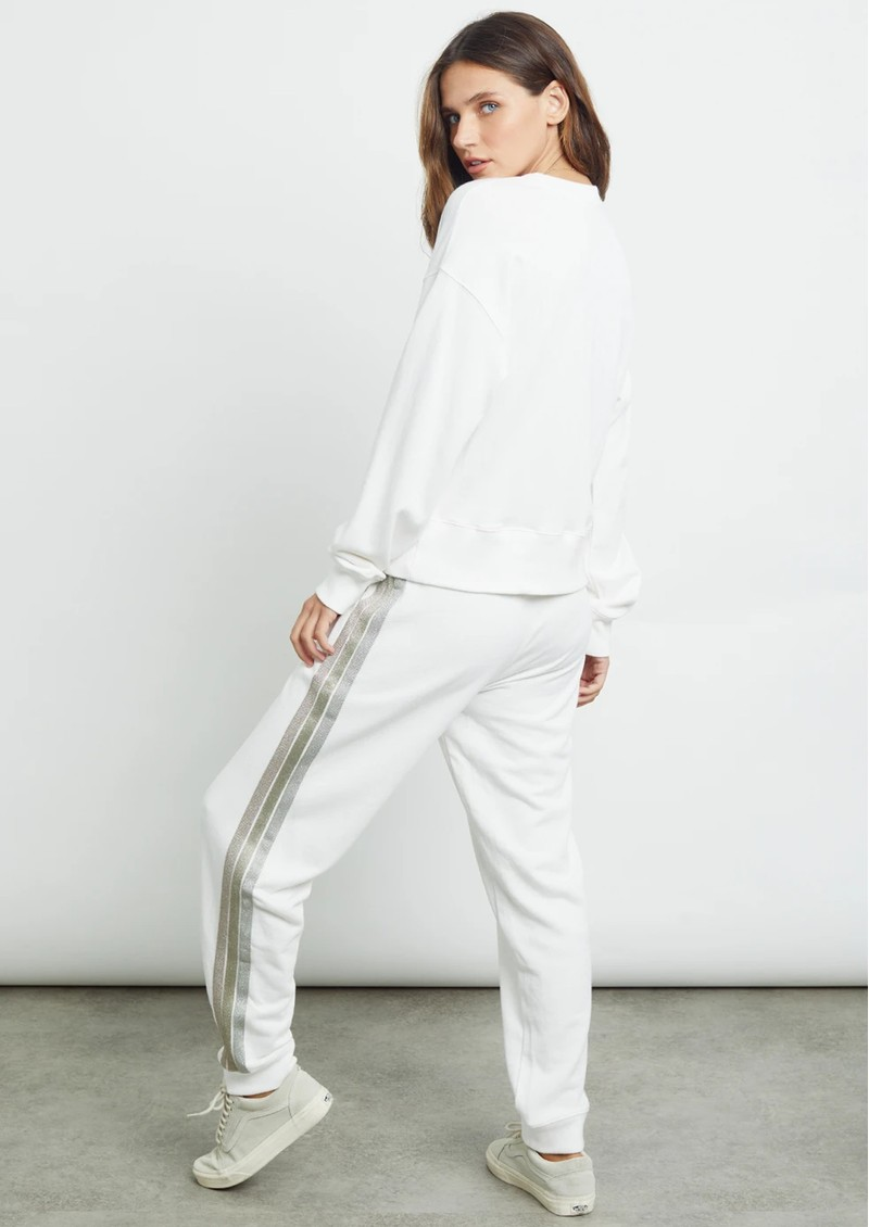 Rails Oakland Joggers - Off White & Metallic main image