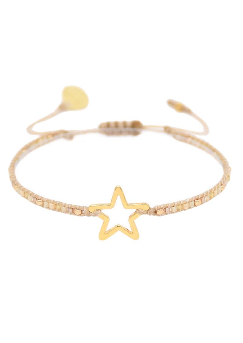 MISHKY Melted Star Beaded Bracelet - Gold main image