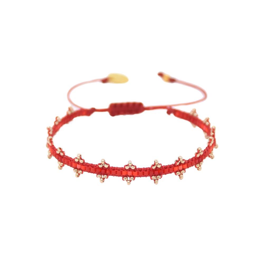 Shanty Beaded Bracelet - Red