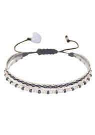 MISHKY Boho Maya Beaded Bracelet - Black & White