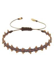 MISHKY Boho Shanty Beaded Bracelet - Black & Bronze
