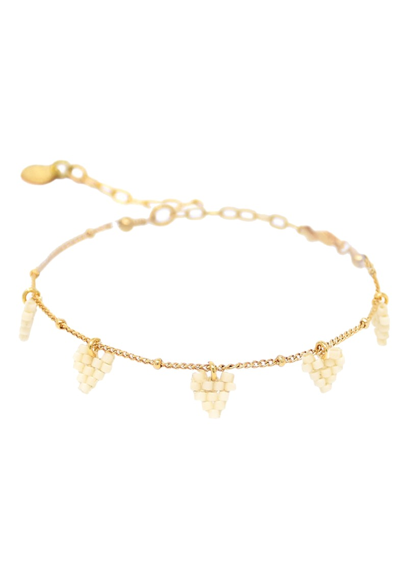 MISHKY Multi Heart Chain Bracelet - Gold main image
