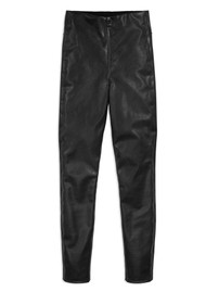 RAG & BONE Nina Faux Leather Vegan Skinny Trousers - Black