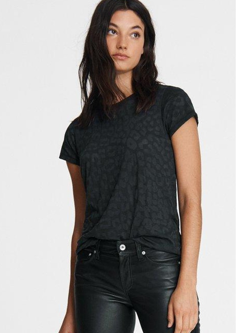RAG & BONE All Over Cheetah Tee - Black  main image