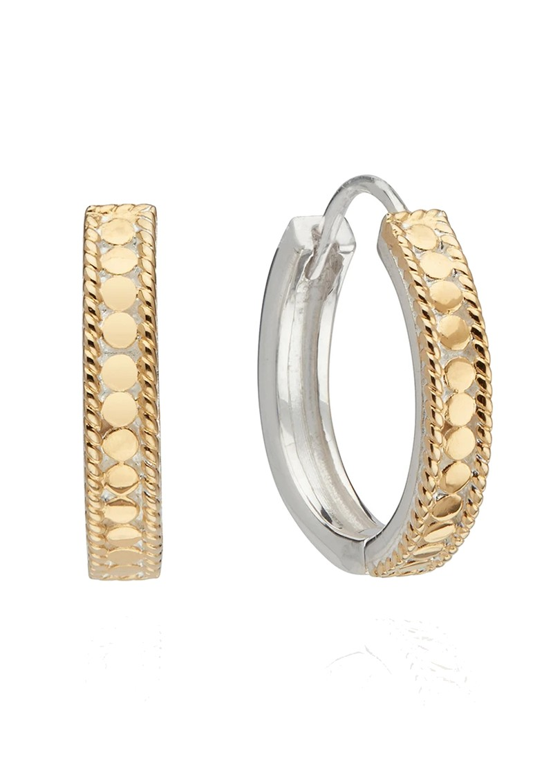 ANNA BECK Classic Hinge Hoop Earrings - Gold & Silver main image