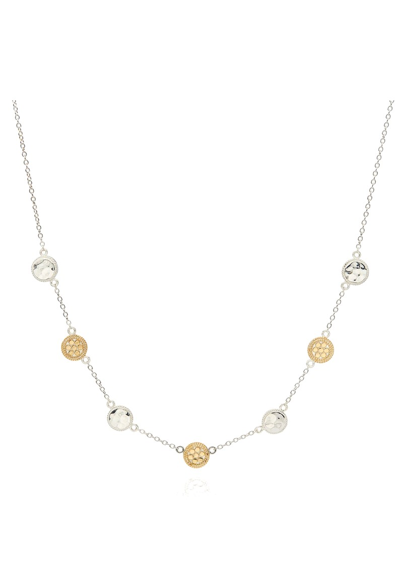 ANNA BECK Hammered Station Necklace - Gold & Silver main image
