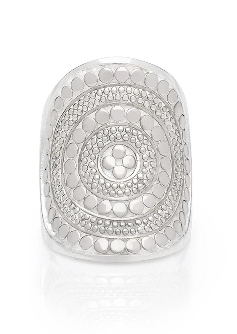 ANNA BECK BEADED SADDLE RING - SILVER main image