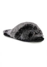 EMU Mayberry Frost Crossover Sheepskin Slipper Slide - Black